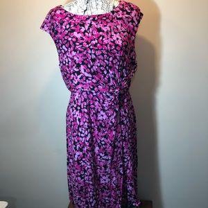 Dana Buchman pink and black stretch dress